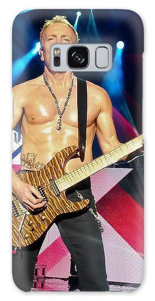 Phil Collen Of Def Leppard 5 Galaxy Case by David Patterson