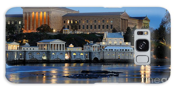 Philadelphia Art Museum And Fairmount Water Works Galaxy Case