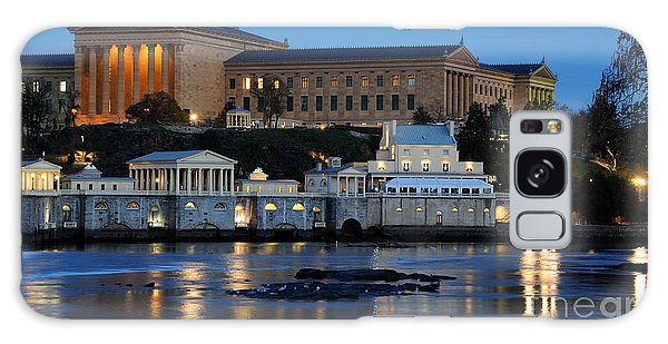 Philadelphia Art Museum And Fairmount Water Works Galaxy Case