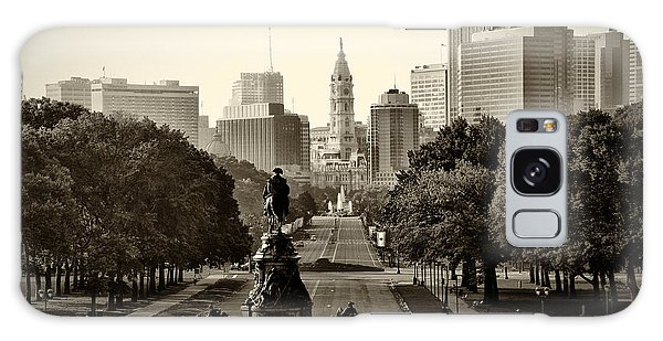 Philadelphia Benjamin Franklin Parkway In Sepia Galaxy S8 Case