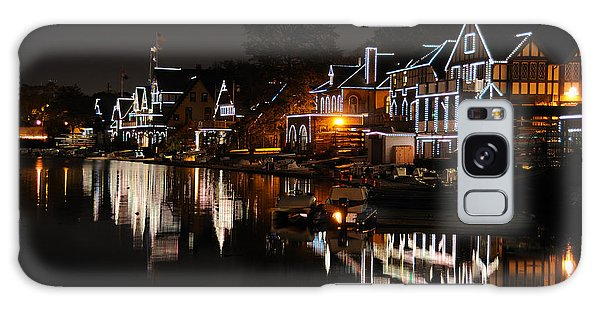 Philadelphia Boathouse Row At Night Galaxy Case