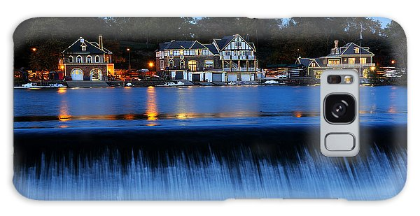 Philadelphia Boathouse Row At Twilight Galaxy Case