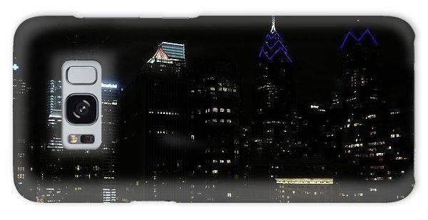Philadelphia Night Lights Galaxy Case by Rona Black
