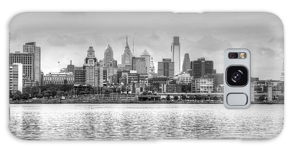 Philadelphia Skyline In Black And White Galaxy Case