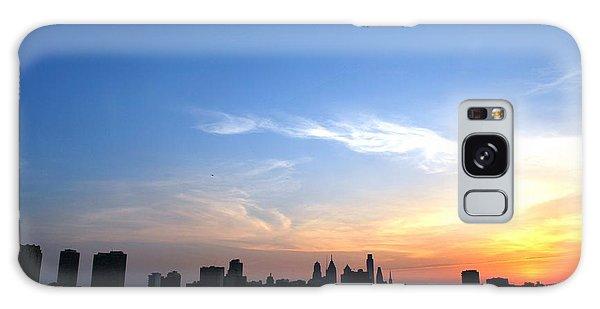 Philadelphia Skyline Low Horizon Sunset Galaxy Case by Matt Harang