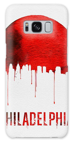 Philadelphia Skyline Redskyline Red Galaxy Case by Naxart Studio