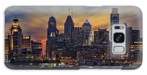 Galaxy Case featuring the photograph Philadelphia Skyline by Susan Candelario