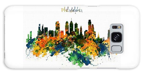 Philadelphia Watercolor Skyline Galaxy Case