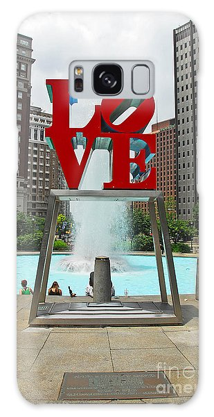 Philadelphia's Love Park Galaxy Case by Cindy Manero