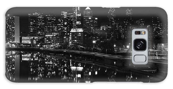Philly And The Schuylkill Bw Galaxy Case by Jennifer Ancker