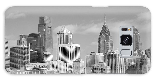 Philly Skyscrapers Black And White Galaxy Case by Jennifer Ancker