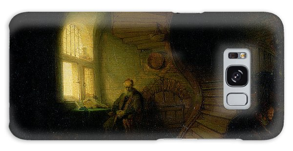 Philosopher Galaxy Case - Philosopher In Meditation by Rembrandt
