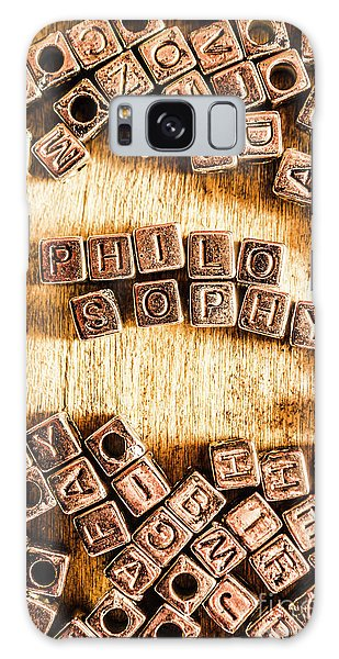 Smart Galaxy Case - Philosophy Word Art by Jorgo Photography - Wall Art Gallery
