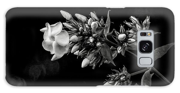 Phlox In Black And White Galaxy Case
