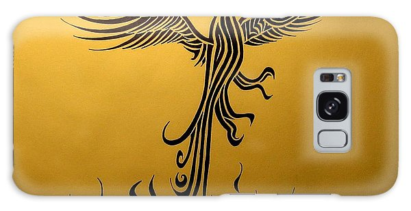 Galaxy Case featuring the drawing Phoenix by Michelle Dallocchio