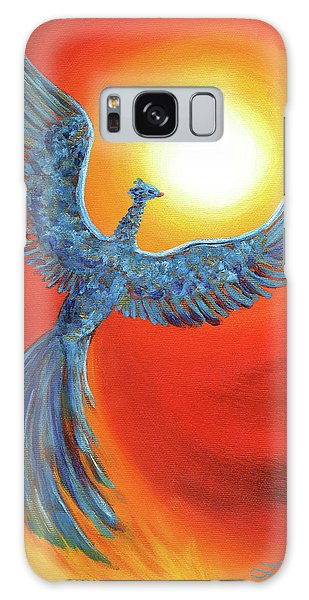 Phoenix Rising Galaxy Case by Laura Iverson