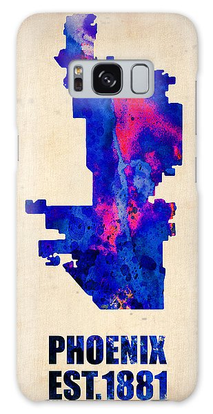 Phoenix Watercolor Map Galaxy Case