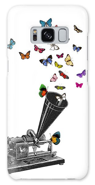 Record Galaxy Case - Phonograph And Butterflies Print by Madame Memento