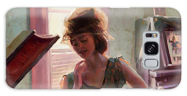 Galaxy Case featuring the painting Phonograph Days by Steve Henderson