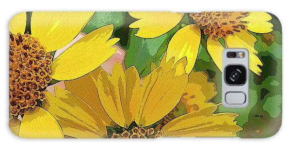 Yellow Wildflowers Photograph II Galaxy Case