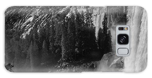 Photographer At Vernal Falls Galaxy Case