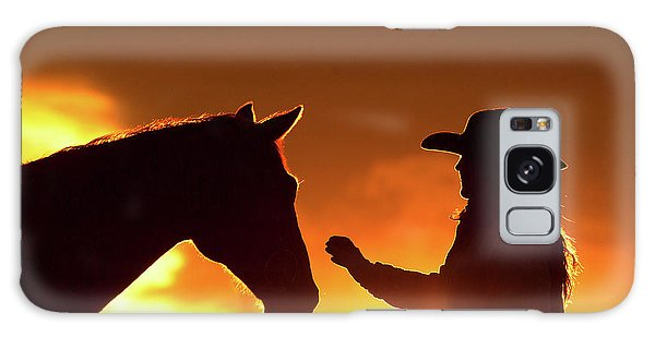 Galaxy Case - Cowgirl Sunset Sihouette by Shawn Hamilton