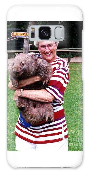 Phyllis Holding Thirty Lb Wombat Australia Galaxy Case