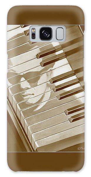 Piano Man In Sepia Galaxy Case