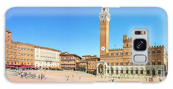 Town Square Galaxy Case - Piazza Del Campo In Siena by Delphimages Photo Creations