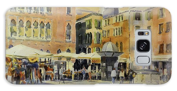 Galaxy Case featuring the painting Piazza San Angelo by David Gilmore