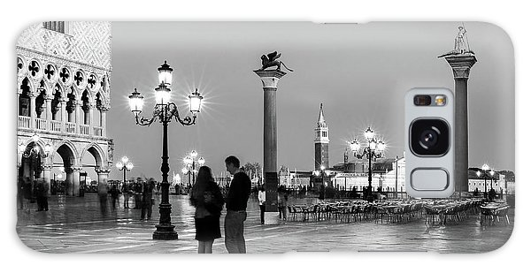Galaxy Case featuring the photograph Piazza San Marco At Night - Venice by Barry O Carroll