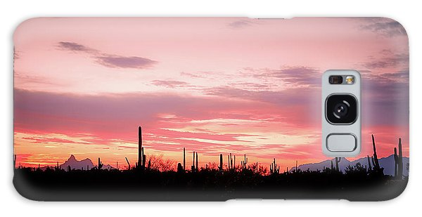 Picacho Sunset Galaxy Case