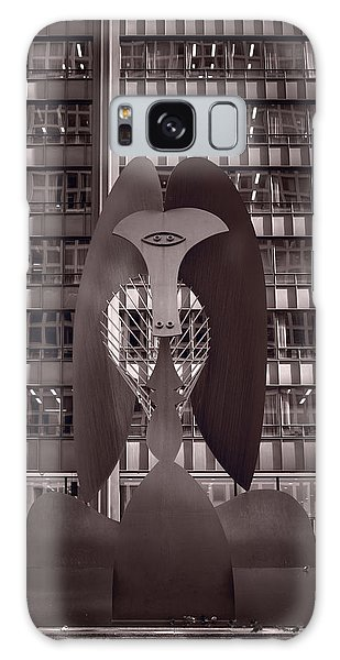 Chicago Art Galaxy Case - Picasso Chicago Bw by Steve Gadomski