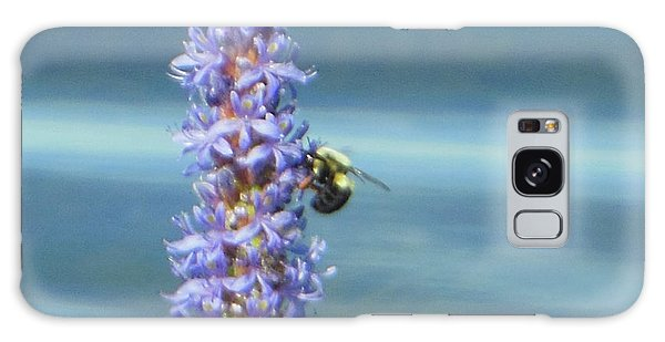 Pickerelweed Bumble Bee Galaxy Case