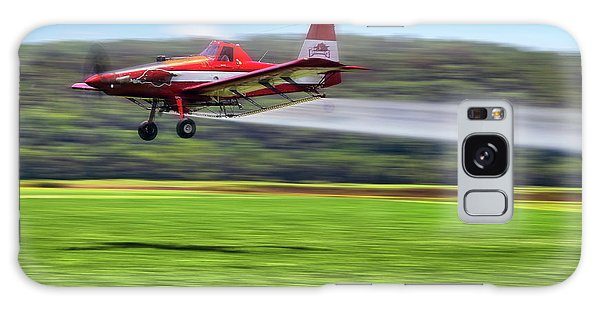 Galaxy Case featuring the photograph Picking It Up And Putting It Down - Crop Duster - Arkansas Razorbacks by Jason Politte