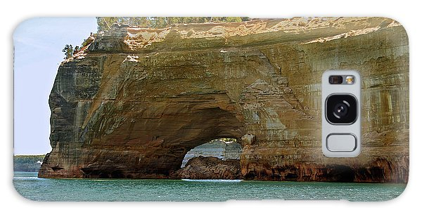 Pictured Rocks Arch Galaxy Case by Michael Peychich