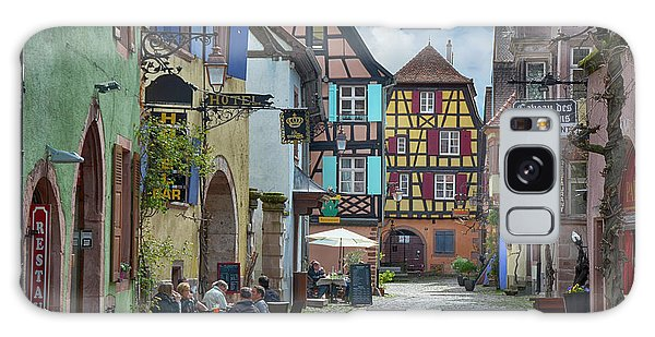 Town Square Galaxy Case - picturesque Alsation Riquewihr II by Joachim G Pinkawa