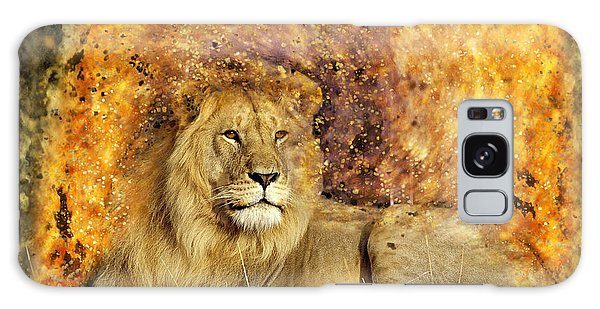 Pieces Of A Lion Galaxy Case