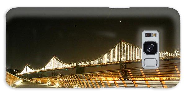 Pier 14 And Bay Bridge Lights Galaxy Case