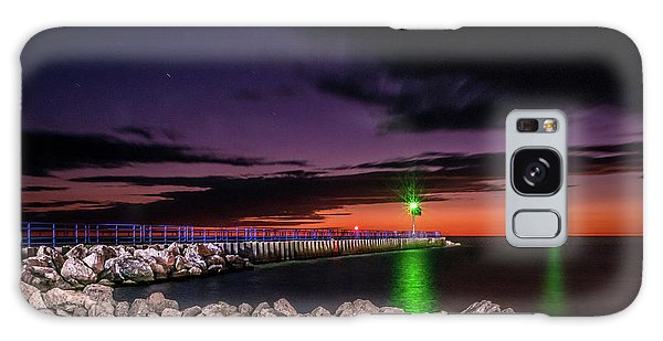 Pier And Lighthouse Galaxy Case