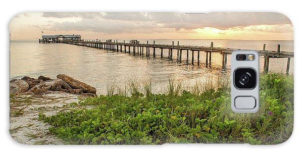 Pier At Sunrise Galaxy Case