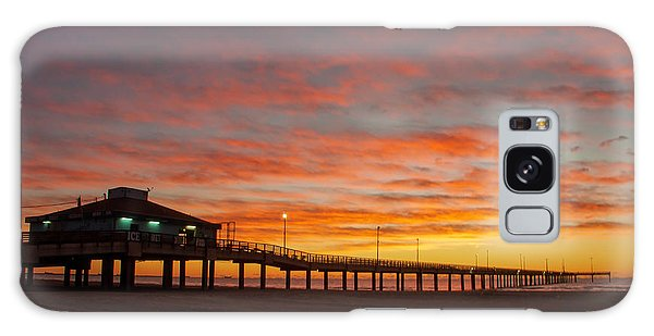 Pier At Sunrise Port Aransas Tx Galaxy Case