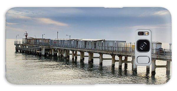 Pier At Sunset Galaxy Case by John Williams