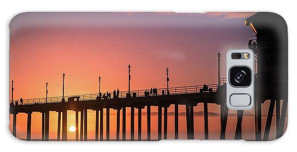 Pier At Sunset Galaxy Case