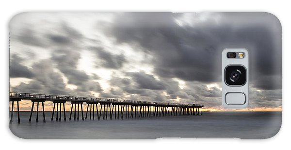 Pier In Misty Waters Galaxy Case by Ed Clark