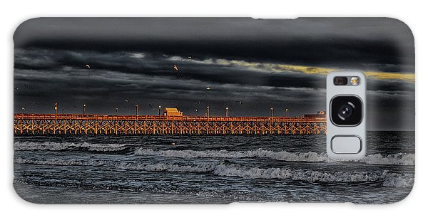 Pier Into Darkness Galaxy Case by Kelly Reber