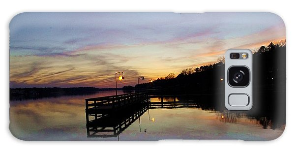 Pier Silhouetted In The Sunset On The Coosa River Galaxy Case