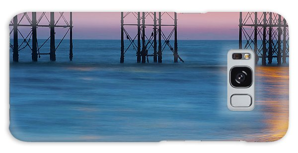 Pier Supports At Sunset I Galaxy Case
