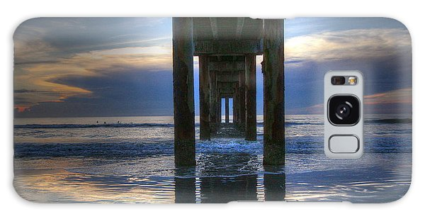 Pier View At Dawn Galaxy Case by Myrna Bradshaw
