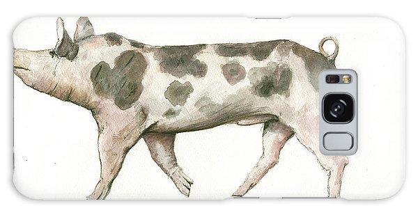 Pig Galaxy Case - Pietrain Pig by Juan Bosco